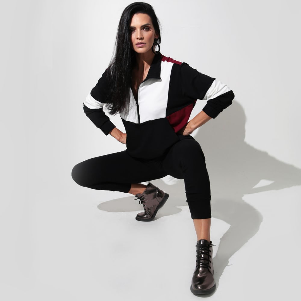 Calça Sportwear PRETO/ VERMELHO